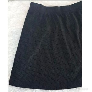 Candie's Black Perforated Triangle Suede Skirt